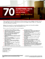 70-Something Ways You Could Lose Your Home