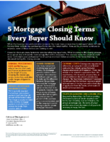 Five Mortgage Closing Terms Every Buyer Should Know