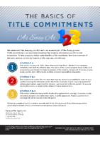 Basics of Title Commitments