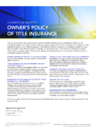 Commercial Property Owners Policy of Title Insurance