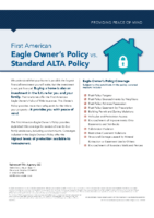 Eagle Owners Policy vs Standard ALTA Policy