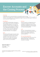 Escrow Accounts and Closing Process