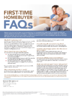 First-Time Homebuyer FAQs