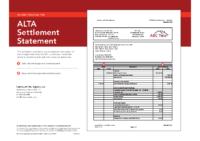 Understanding the ALTA Settlement Statement