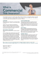 What is Commercial Title Insurance